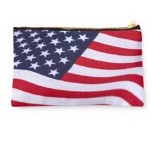 American Flag with canvas texture Studio Pouch