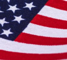 American Flag with canvas texture Sticker