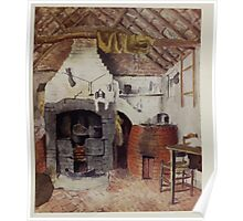 Kate Greenaway Collection 1905 0045 In the Chappel Cottage at Rollesten, the Kitchen Poster