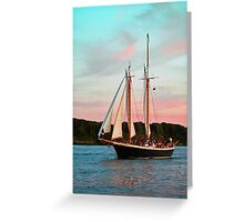 Last Sail For The Night Greeting Card