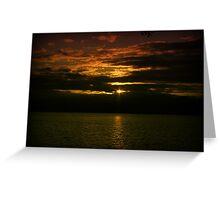Coast Sunset Greeting Card