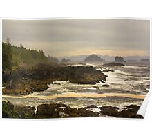 """Lifting Fog- Pacific Rim, Vancouver Island, BC, Canada Poster"