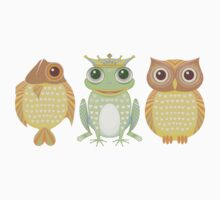Fish Frog Owl Kids Clothes