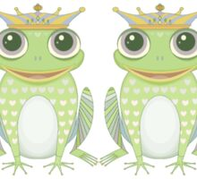 Quadruplet Princely Frogs Sticker