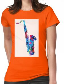 Colorful Saxophone 2 By Sharon Cummings Womens Fitted T-Shirt