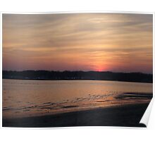 Sunset on the Shore of Shark River, New Jersey Nature USA Poster