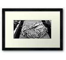 Weigh Anchor Framed Print