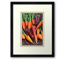 Harvest Organic Vegetables Framed Print