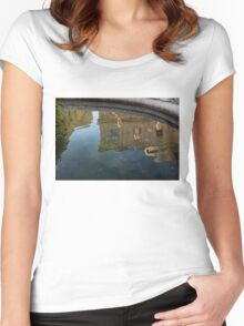 Noto's Sicilian Baroque Architecture Reflected Women's Fitted Scoop T-Shirt