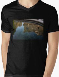 Noto's Sicilian Baroque Architecture Reflected Mens V-Neck T-Shirt
