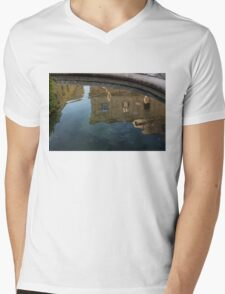 Noto's Sicilian Baroque Architecture Reflected Mens V-Neck T-Shirt