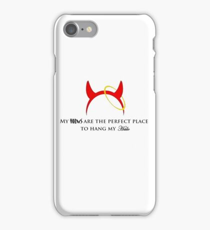 Are you a horny angel? iPhone Case/Skin