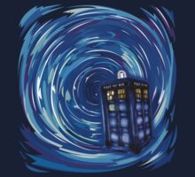 Blue Phone Box with Swirls Kids Clothes