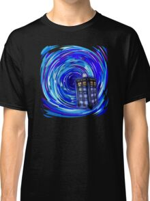 Blue Phone Box with Swirls Classic T-Shirt
