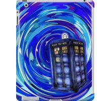 Blue Phone Box with Swirls iPad Case/Skin