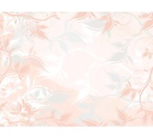 Pastel floral background Photographic Print