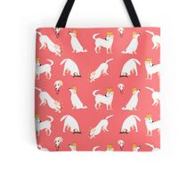 White labrador Tote Bag