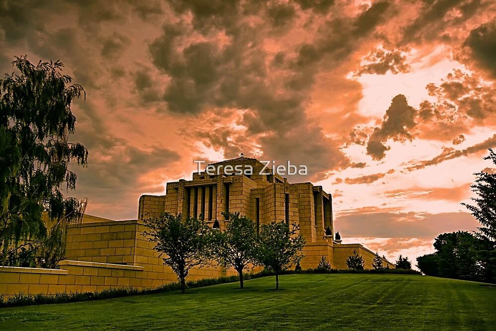 Cardston Alberta Temple by Teresa Zieba