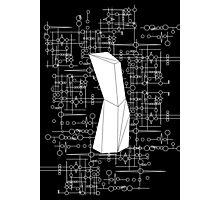 The Obelisk / The Diviner (White) Photographic Print
