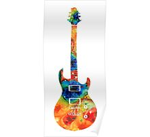Colorful Electric Guitar 2 - Abstract Art By Sharon Cummings Poster