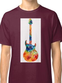 Colorful Electric Guitar 2 - Abstract Art By Sharon Cummings Classic T-Shirt