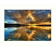 Through The Looking Glass - Narrabeen Lakes - The HDR Experience Art Print