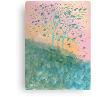 Trees Blooming (acrylic) Canvas Print