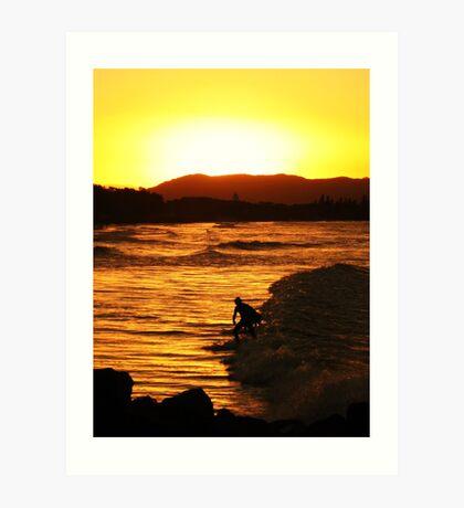 Sunset at Byron Bay Art Print