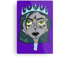Woman King Ghost Drawing Metal Print