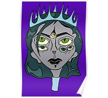 Woman King Ghost Drawing Poster