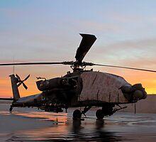 AH-64D Apache Longbow at Dawn, Joint Base Balad, Iraq by Dan McGurk