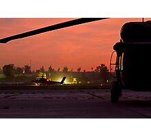 AH64D Longbow Apache Framed by Medevac UH60 Photographic Print