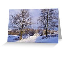 Snowy Passage Greeting Card