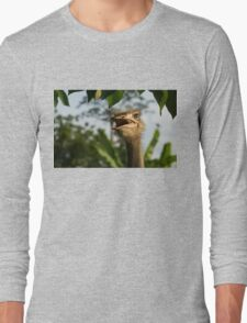 A Portrait Of An Opinionated Ostrich  Long Sleeve T-Shirt