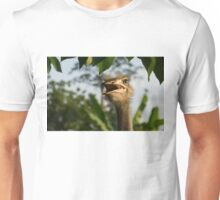 A Portrait Of An Opinionated Ostrich  Unisex T-Shirt