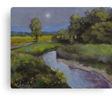 """Green River Nocturne"" Canvas Print"