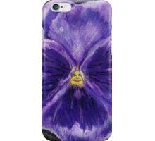Pretty Purple Pansy Person iPhone Case/Skin
