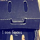 I see faces - Mr cardboard box by KristinStone