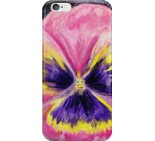 Pretty Pink Pansy Person iPhone Case/Skin