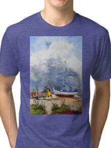 The fisherman Tri-blend T-Shirt