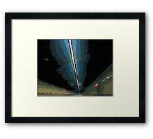 GF freeway tunnel Framed Print