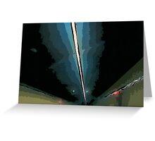 GF freeway tunnel Greeting Card