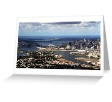 Perfect aerial approach to Sydney Greeting Card