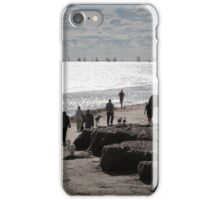 People, Dogs & Yachts enjoying a sunny Winters Day. Semaphore. iPhone Case/Skin