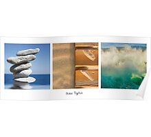 Ocean Tryptich Poster