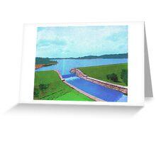 Ashland Reservoir, Ashland, Mass., 1893 Greeting Card