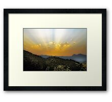 Sunset over The El Torcal Mountains Near Pastelero Spain Framed Print
