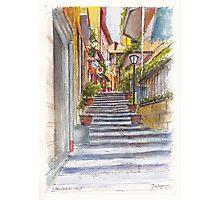 Bellagio Street Aquarelle Photographic Print
