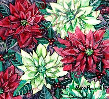 Christmas Flower Poinsettia Splendor by ShanaRoweArt
