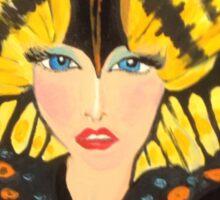 Butterfly Girl Take Me Away!  Sticker